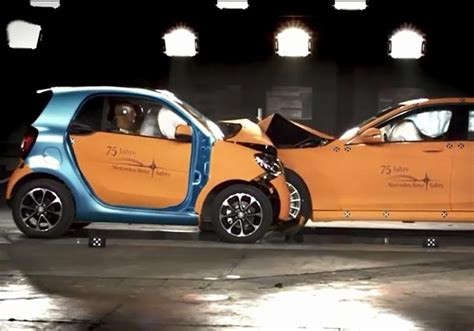 smart car crash test smart car faces with s class in a crash test marketwatch