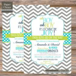 Twin boy baby shower invitations create your baby shower invitation