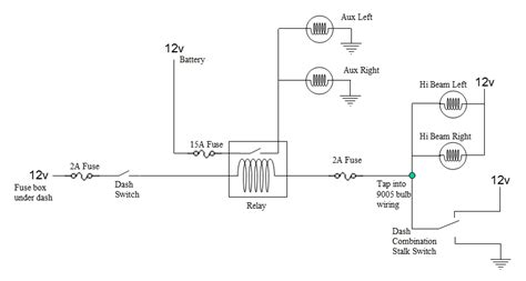 wiring diagram for light bar to high beam choice image