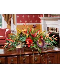 Bird Of Paradise Flower Arrangement Vase Enhance Your Decor With Orchid Amp Calla Lily Silk Flower