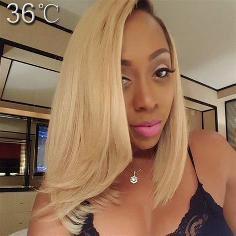hair blonde front black back brazilian virgin blond lace front human hair bob wigs 144