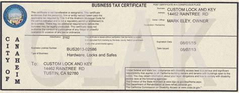 Garden Grove Ca Business License Custom Lock And Key Business Licenses