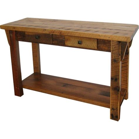 rustic sofa table rustic barn wood sofa table with shelf