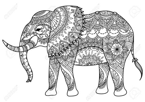 elephant design coloring page mandalas para imprimir