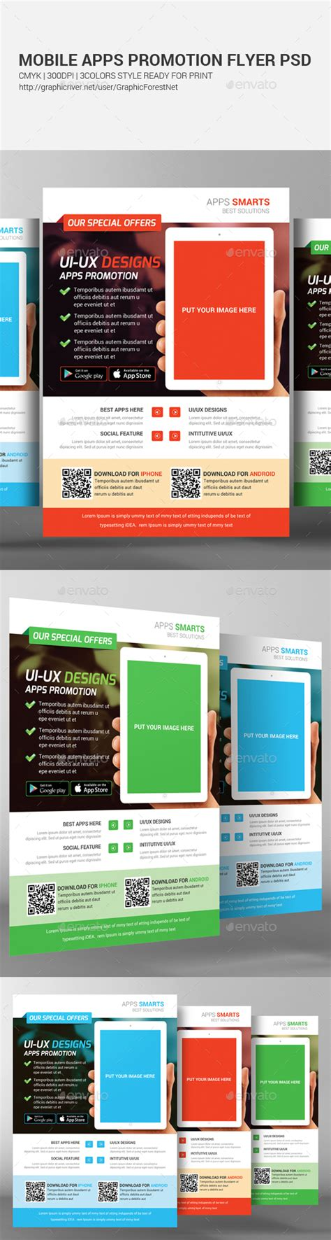 flyer design app for iphone mobile apps promotion flyer template promotion