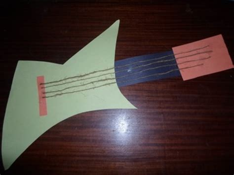 Paper Guitar Craft - paper guitar my kid craft