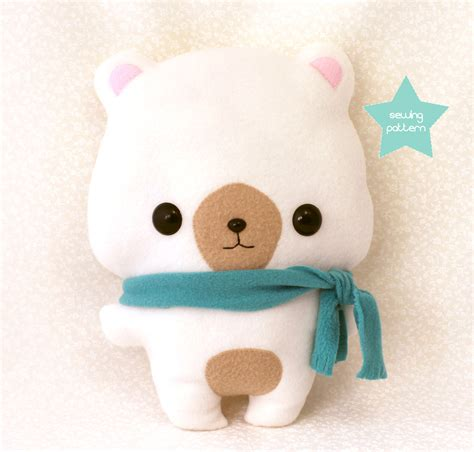 pdf sewing pattern cute bear stuffed animal easy beginner