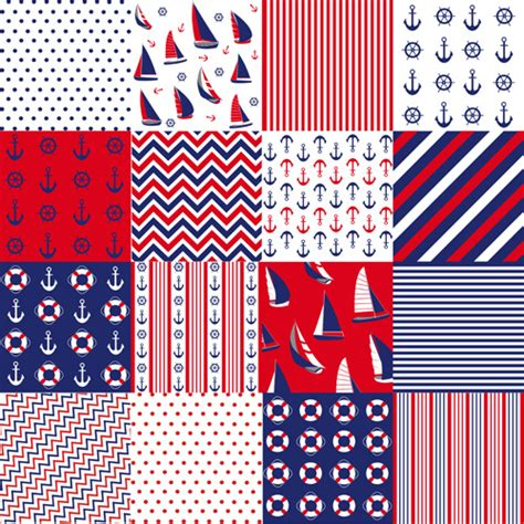 nautical pattern vector free ifferent nautical pattern vector set free vector in