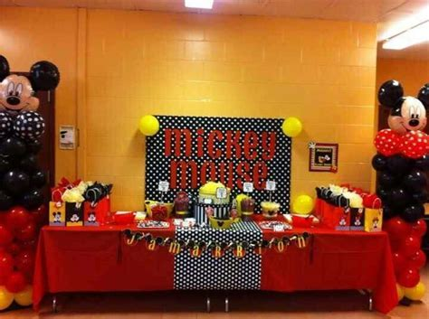 Mickey Mouse Party Birthday Party Ideas   Photo 2 of 6