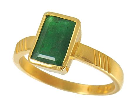 22kt astrological ring emerald asri4145 emerald is