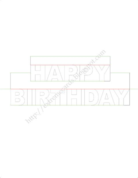 pop up cards cake printable templates happy birthday pop up card