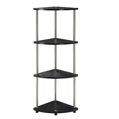 stainless steel corner shelf bookshelf modern 4 tier table