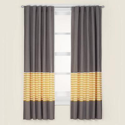 Curtains Gray Decor Grey Yellow Curtain Panels Modern Decor By The Land Of Nod