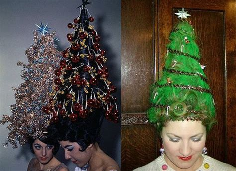 christmas tree hairstyles for girls and women