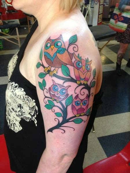 tattoo family owl 28 owl family tattoos ideas
