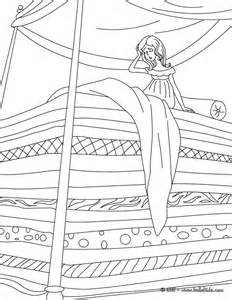 coloring pages princess and the pea the princess and the pea coloring pages hellokids