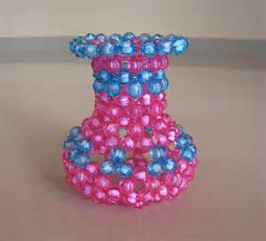 acrylic beaded flower vase