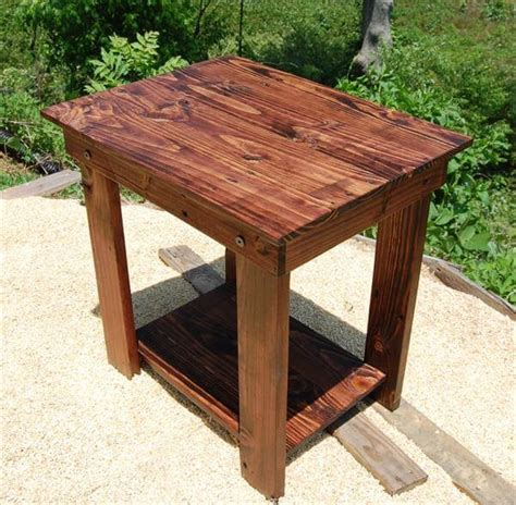 end tables made from pallets diy pallet side table end table and bedside table 101