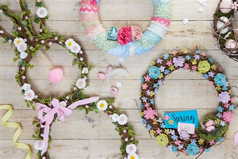spring wreaths to make how to decorate a spring bunny wreath hobbycraft blog