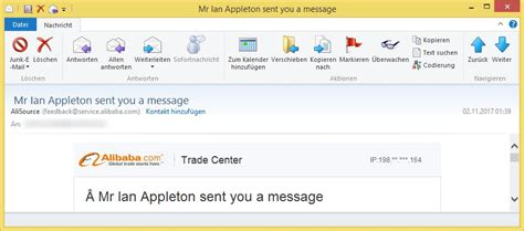 alibaba mail mr ian appleton sent you a message oder marc pertov from