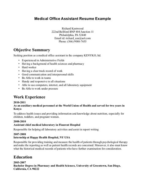 Exle Of Office Assistant Resume by Certified Dental Assistant Resume Sales Dental Lewesmr