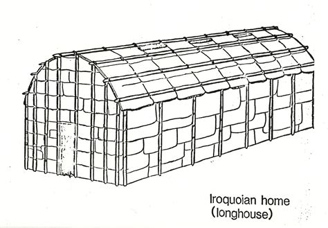 Indian Longhouse Coloring Page Coloring Pages Longhouse Coloring Page