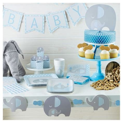 Elephant Baby Shower Plates And Napkins by Peanut Boy Elephant Baby Shower Supplies