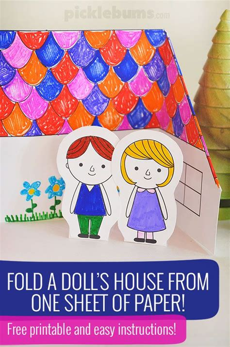 How To Fold Paper Dolls - make a paper doll s house free printable paper houses
