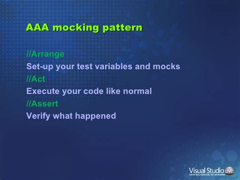 aaa pattern unit test building a testable data access layer