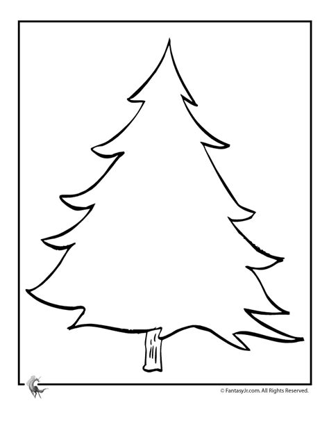 christmas trees coloring pages decorate your own blank