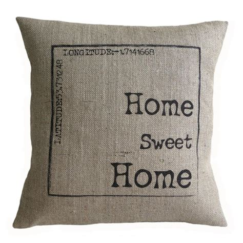 sweet home best pillow personalized home sweet home burlap pillow cover on luulla