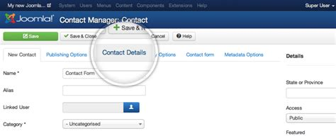 joomla component page how to create a joomla contact us page engine templates