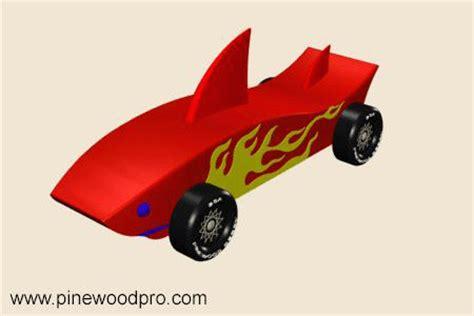 shark instant download pinewood derby car design