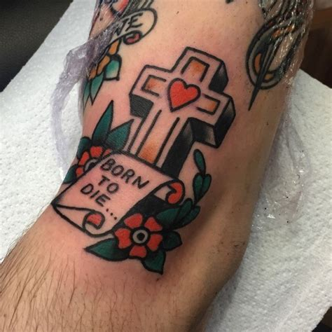 old school cross tattoos 50 traditional cross designs for school ideas