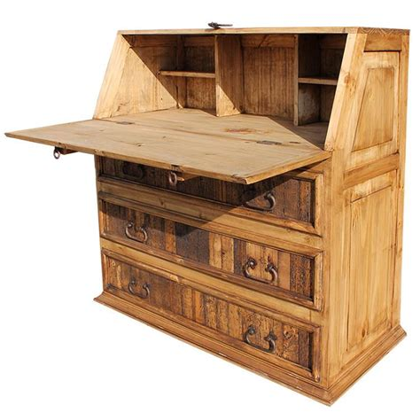 fold down desk rustic pine collection fold down desk esc01