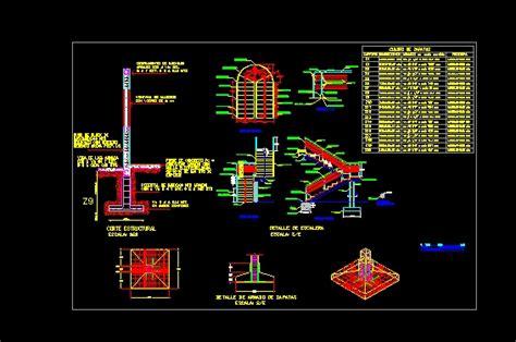 escaleras en corte frontal escaleras descarga gratis de planos archivos y bloques