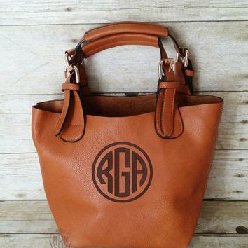 monogrammed black hobo handbag