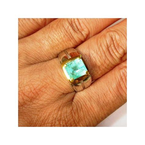 Ring Pria jual cincin pria silver ring 9us zamrud 1 80 carat