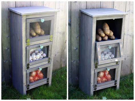 diy vegetable bin cupboard home design garden