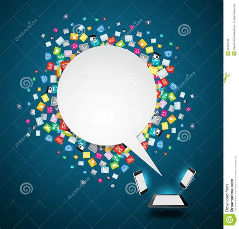 backdrop design software vector speech bubble background with cloud of colo stock