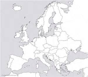 Free printable blank map of europe grayscale with country borders