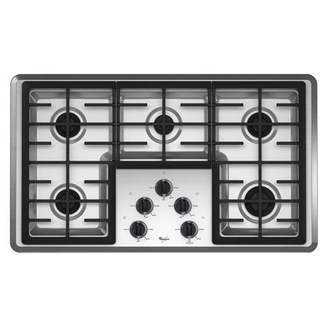 36 Gas Cooktop Whirlpool W5cg3625xs 36 Quot Gas Cooktop Sears Outlet