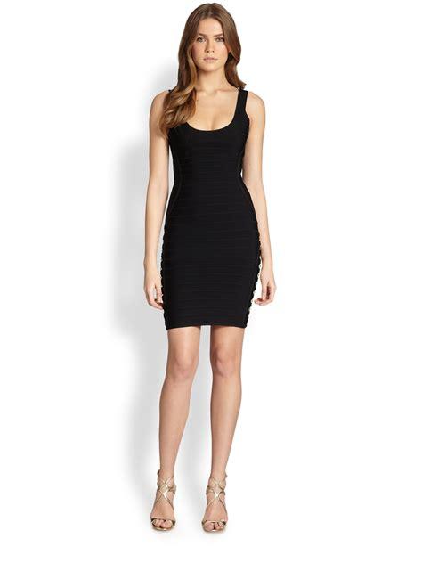 Herve Dress lyst herv 233 l 233 ger hardware bodycon dress in black