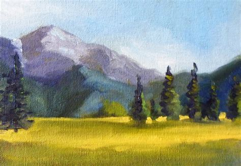 painting montana montana field landscape painting original on canvas