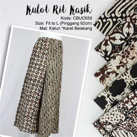 Celana Kulot Sogan Sinaran 2 celana kulot batik cap motif seling resleting celana