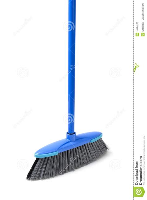 Blue Broom For Cleaning Royalty Free Stock Photography