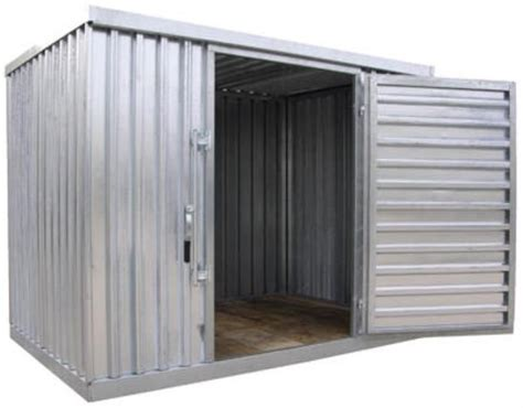 Modular Shed by Galvanized Steel Corrugated Panel Modular Storage Shed 110 Quot W X 77 Quot D X 85 Quot H Ebay