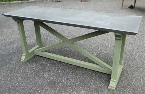 Zinc Console Table Zinc Top Console Table At 1stdibs