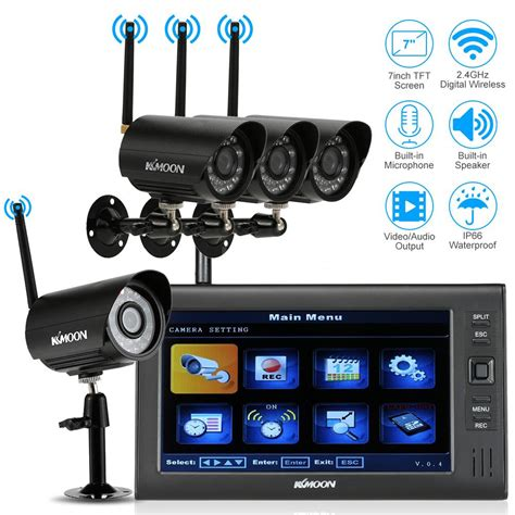 dvr home security system wireless 7 lcd monitor