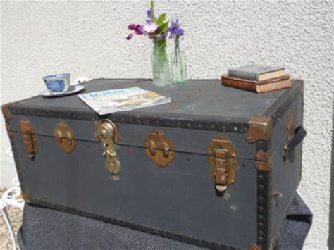 vintage steamer trunk shabby chic box coffee table